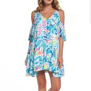 NWT Lilly Pulitzer Bellamie Serene Blue Dress